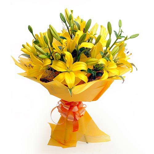 Exotic Yellow Lilies Bouquet
