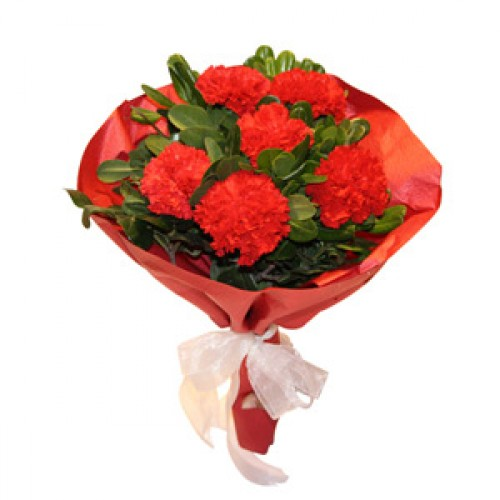 Red Carnations Mini Bunch