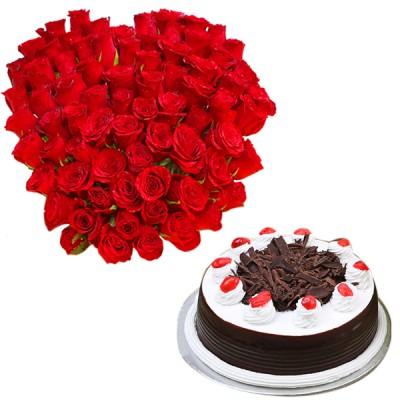 Century Heart N Cake Combo